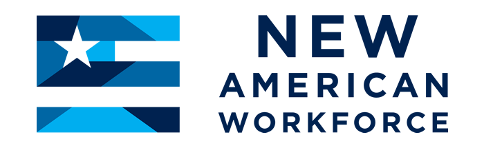 Logo showing the text New American Workforce