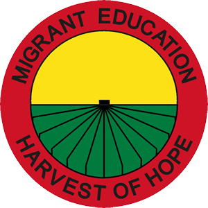 Logo with text Migrant Education Harvest of Hope