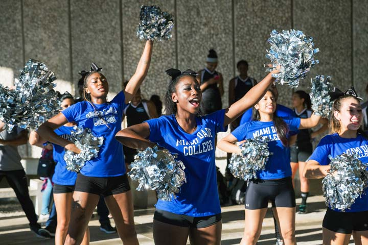 MDC cheerleaders showing school spirit