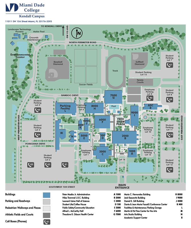 Kendall Campus Map | compressportnederland
