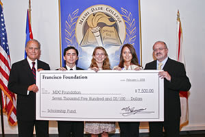 Francisco Foundation Scholarship Winners