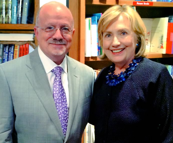 President Padrón and Hillary Clinton
