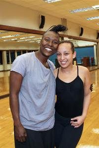 Dancer Nora Chipaumire and student