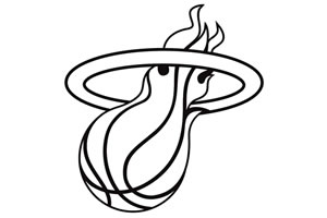 Miami Heat White Ball Flame