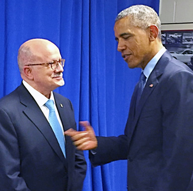 President Padrón and President Barack Obama