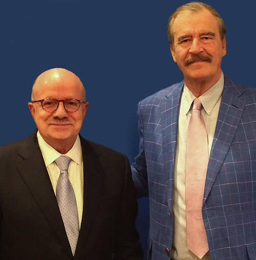 President Padrón with Vicente Fox, former president of Mexico