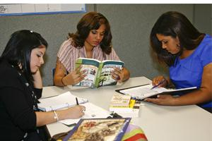 Students Using Textbooks