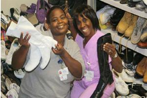 Shoe Drive Founders - Annette and Marjorie