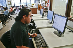 Student at a computer