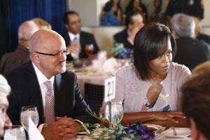 Miami Dade College President Eduardo J. Padron and United States First Lady Michelle Obama