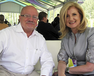 President Padrón and Arianna Huffington