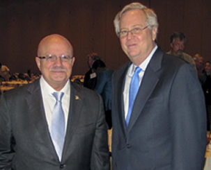 President Padrón and Brian Kelly