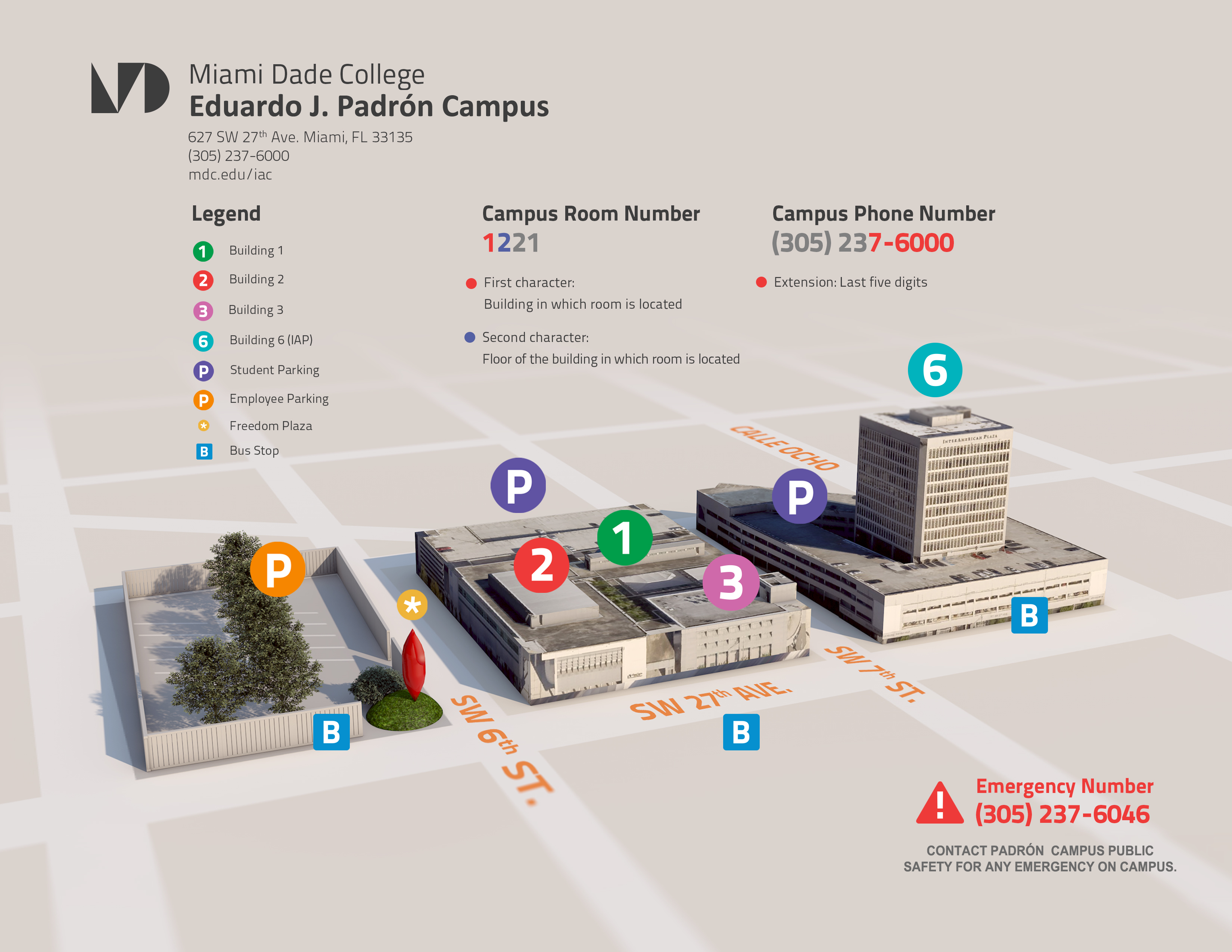 campus map & directions - interamerican campus | miami dade